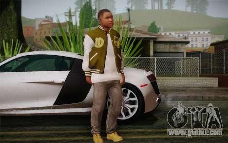 Franklin v. 2 skin for GTA San Andreas third screenshot