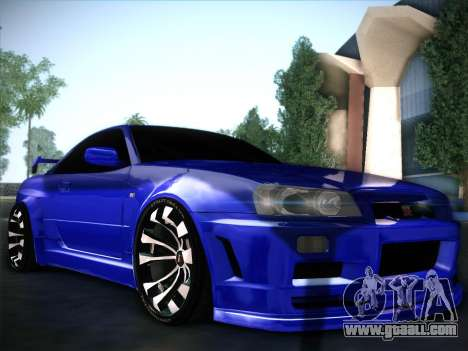 Nissan Skyline GTR for GTA San Andreas