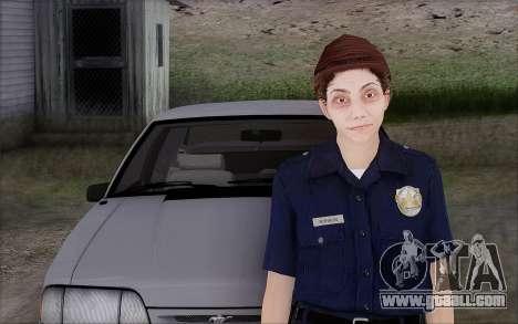 GTA 5 Police Woman for GTA San Andreas second screenshot
