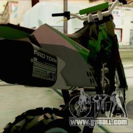 Kawasaki KLX 150 SE for GTA San Andreas right view