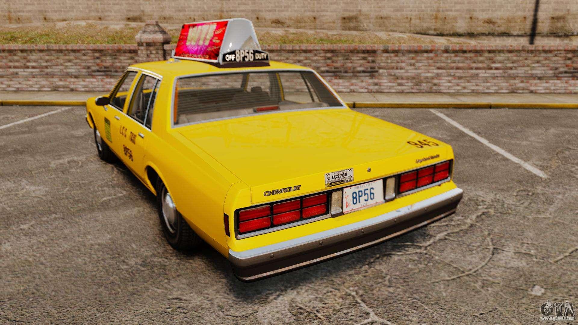 Chevrolet Caprice 1987 L C C Taxi For Gta 4