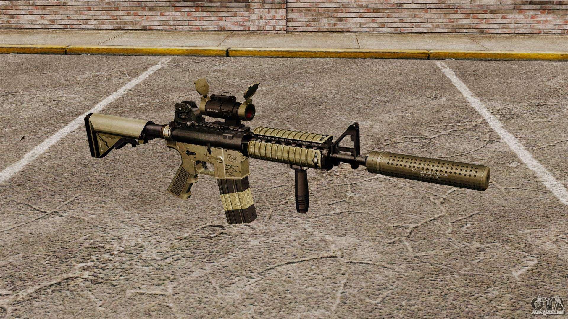 Carbine Silencer m4 Carbine With Silencer v1
