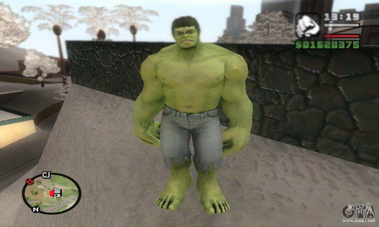 Hulk for GTA San Andreas second screenshot
