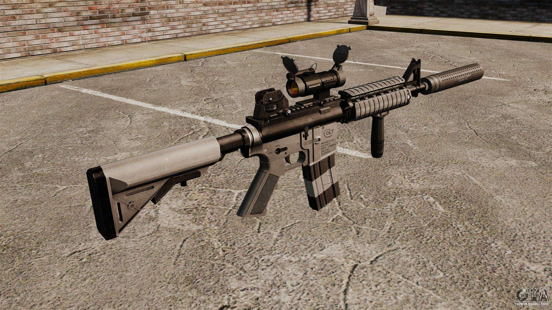 Carbine Silencer m4 Carbine With Silencer v2