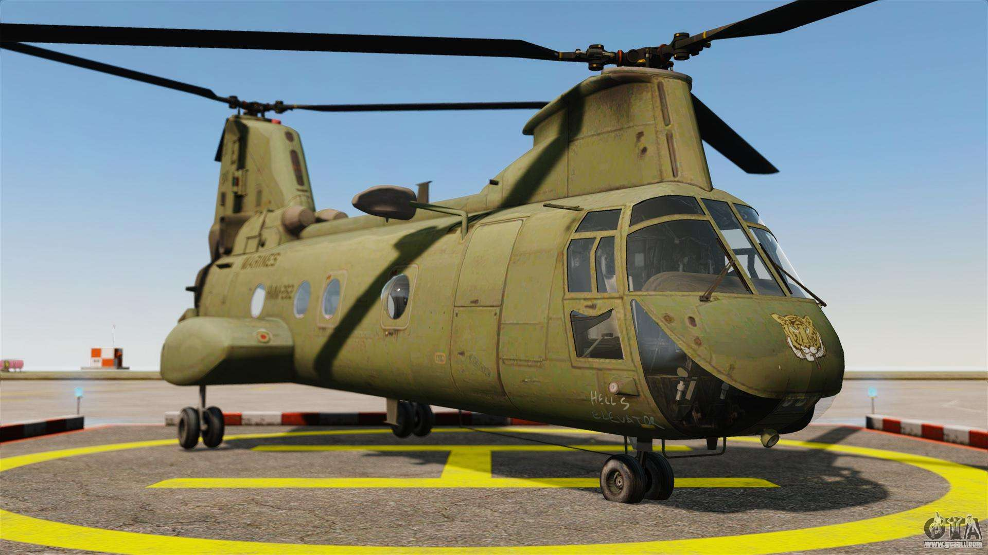 Boeing CH-46D Sea Knight For GTA 4