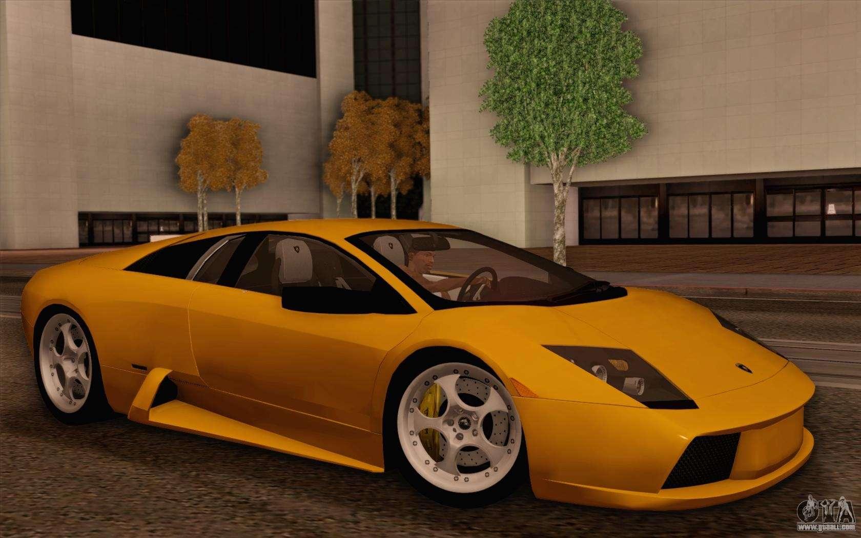 Lamborghini murci lago 2005 for gta san andreas interior