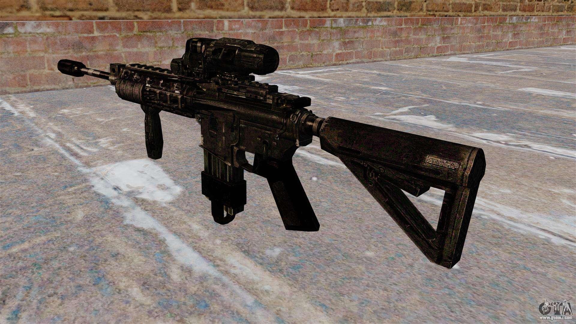 Automatic M4 carbine Hybrid Scope for GTA 4