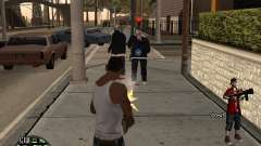 HUD The Ballas By Santiago for GTA San Andreas