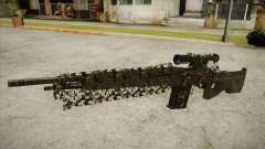Sniper M-14 With Camouflage Grid
