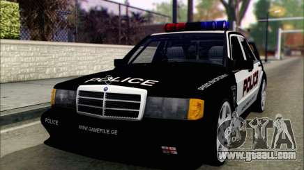 Mercedes-Benz 190E Evolution Police for GTA San Andreas