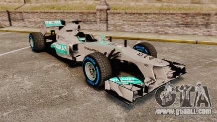 Mercedes AMG F1 W04 v2 for GTA 4