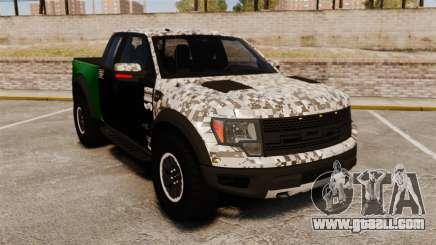 Ford F-150 SVT Raptor 2011 ArmyRat for GTA 4