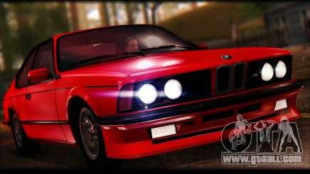 BMW E24 M635 1984 for GTA San Andreas