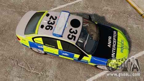 BMW F30 328i Metropolitan Police [ELS] for GTA 4 right view