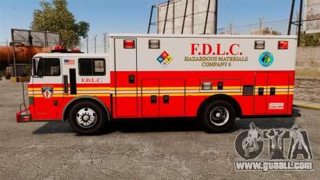 Hazmat Truck FDLC [ELS] for GTA 4 left view