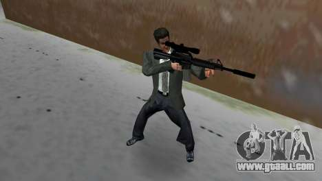 M4 with the Sniper Gun for GTA Vice City