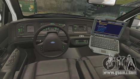 Ford Crown Victoria 1999 LAPD & GTA V LSPD for GTA 4 back view