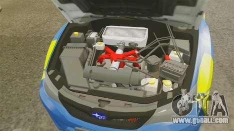 Subaru Impreza WRX STI 2011 Police [ELS] for GTA 4 inner view