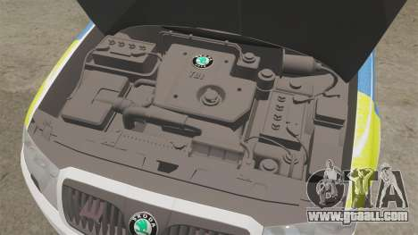 Skoda Superb 2006 Police [ELS] Whelen Edge for GTA 4 inner view
