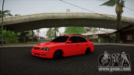 Hyundai Accent for GTA San Andreas right view