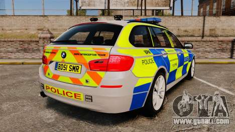 BMW 550d Touring Metropolitan Police [ELS] for GTA 4 back left view