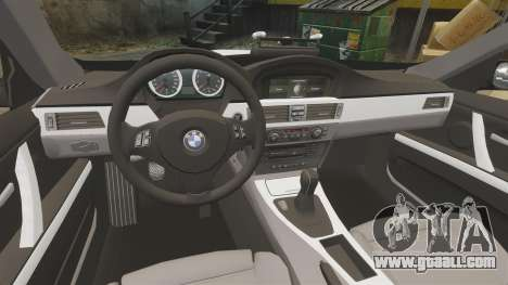 BMW M3 British Police [ELS] for GTA 4 inner view