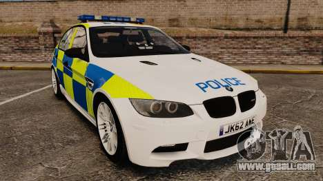 BMW M3 British Police [ELS] for GTA 4