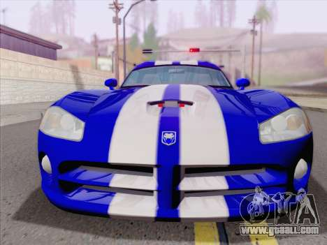 Dodge Viper SRT-10 Coupe for GTA San Andreas bottom view