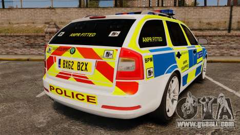 Skoda Octavia Scout RS Metropolitan Police [ELS] for GTA 4 back left view
