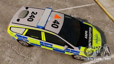 Ford Focus Estate Metropolitan Police [ELS] for GTA 4 right view