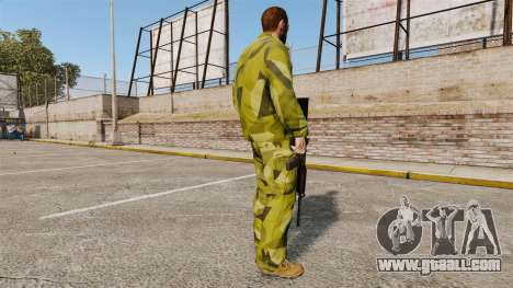 The Swedish camouflage uniform for GTA 4 third screenshot