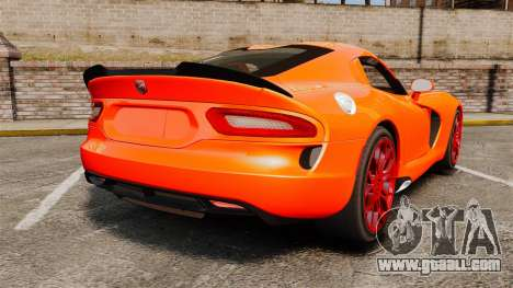 Dodge Viper SRT TA 2014 for GTA 4 back left view