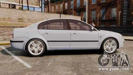 Skoda Superb 2006 Unmarked Police [ELS] for GTA 4 left view
