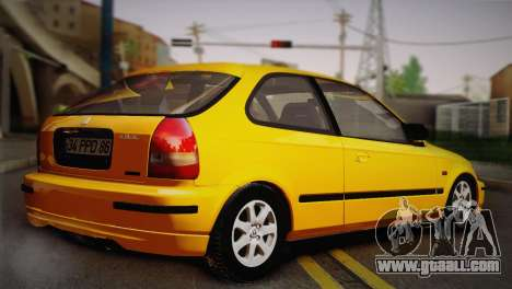Honda Civic 1.4is TMC for GTA San Andreas back left view