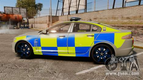 Jaguar XFR 2010 West Midlands Police [ELS] for GTA 4 left view
