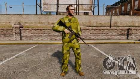 The Swedish camouflage uniform for GTA 4