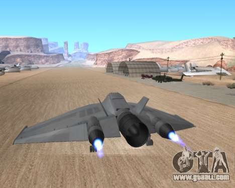 StarGate F-302 for GTA San Andreas inner view