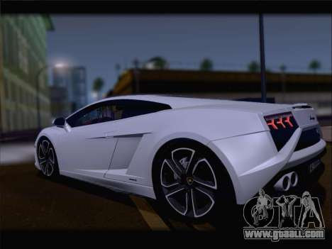Lamborghini Gallardo 2013 for GTA San Andreas back view