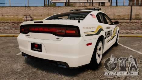 Dodge Charger RT 2012 Police [ELS] for GTA 4 back left view