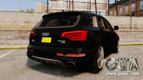 Audi Q7 Unmarked Police [ELS] for GTA 4 back left view