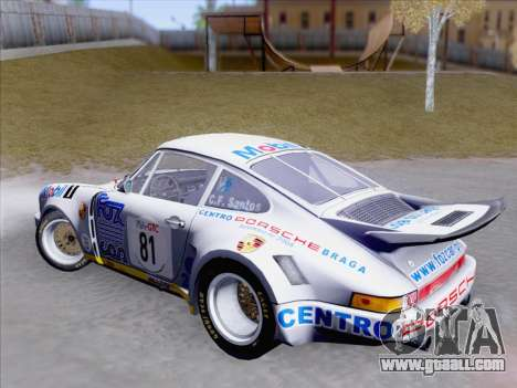 Porsche 911 RSR 3.3 skinpack 1 for GTA San Andreas inner view
