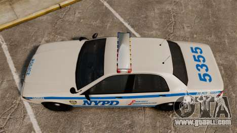 GTA V Vapid Police Cruiser NYPD for GTA 4 right view