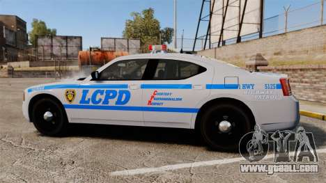 Dodge Charger LCPD [ELS] for GTA 4 left view