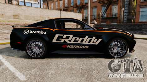 Ford Mustang GT 2013 NFS Edition for GTA 4 left view
