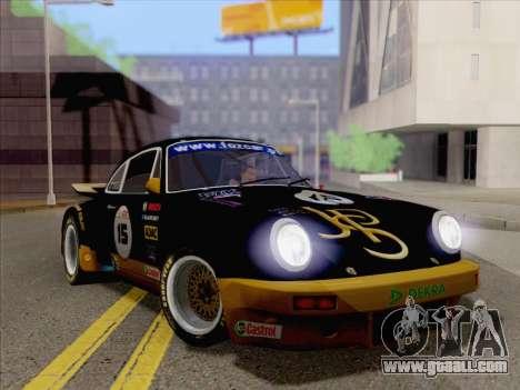 Porsche 911 RSR 3.3 skinpack 2 for GTA San Andreas back left view