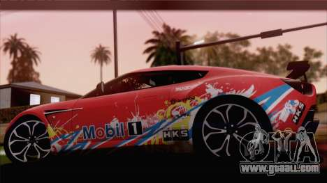 Aston Martin V12 Zagato 2012 [HQLM] for GTA San Andreas right view