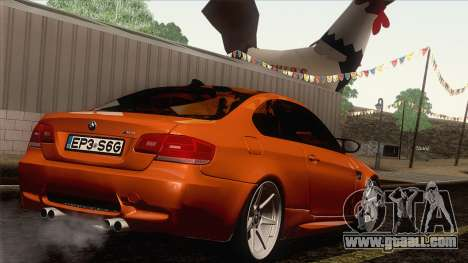 BMW M3 E92 2008 Vossen for GTA San Andreas side view