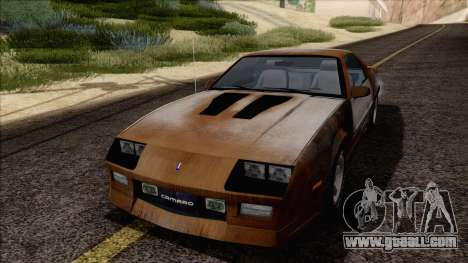 Chevrolet Camaro IROC-Z 1989 FIXED for GTA San Andreas upper view
