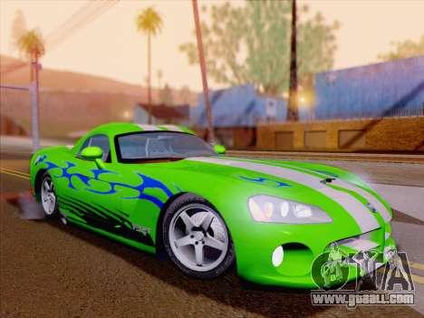 Dodge Viper SRT-10 Coupe for GTA San Andreas wheels