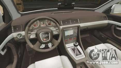 Audi S4 Avant Metropolitan Police [ELS] for GTA 4 inner view